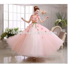 Alibaba China fabricación damas de encaje vestido de alta calidad de encaje rosa vestido de novia 2017 vestido de novia de novia dulce