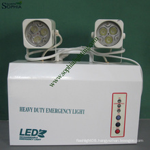 New 12V9ah 7W High Power Twin Heads LED Emergency Light with Remote Controller