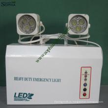 Novo 12V9ah 7W alta potência Twin Heads LED de emergência com controle remoto