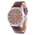 Luxury Wen Silver Leather Quartz Watch
