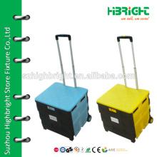 plastic foldable rolling box cart