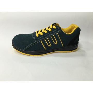 Sapato de camurça superior couro solado PU trabalho segurança