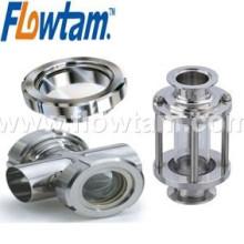 Aço inoxidável sanitário LED Sight Glass com lâmpada Quality Assured