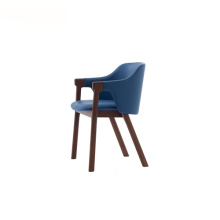 Stacking Wooden Upholstered Leather Loden Armchair