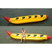 Forme particulière banane longue gonflable eau bateau