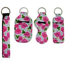 DIY Safety Keychain Set for Women Chapstick Gloss Balm Holder Keychain Marble Sanitizer Keychain Holder