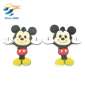 popular high quality 3D soft silicone keychain with cartoon character