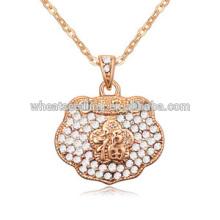 Bonne chance tricoter des bijoux en colliers en cristal