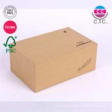 papel barato de la caja de zapatos de Kraft de la fábrica de China con la tapa