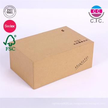 China Fabrik billige Kraft Schuhkarton Papier mit Deckel