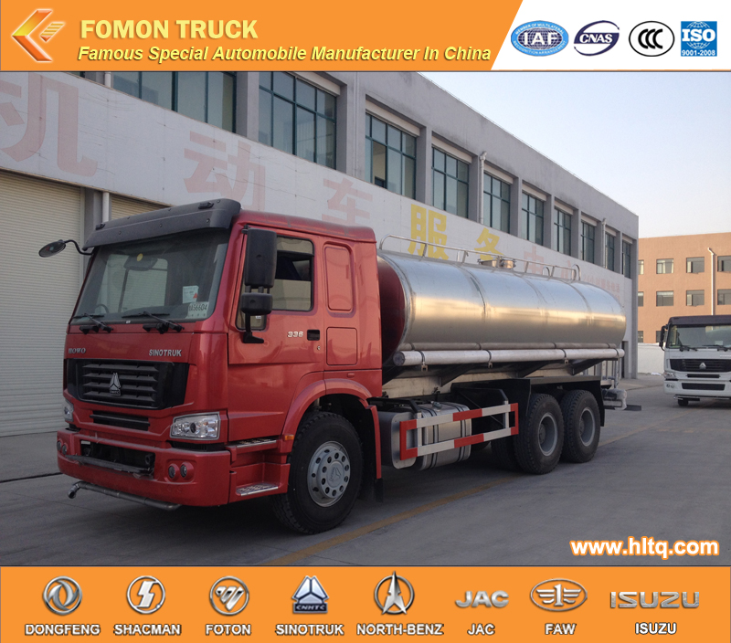 HOWO 6X4  stainless steel washing truck