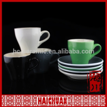 China of circle for healthy drinks ceramic doomed tea cup with saucer