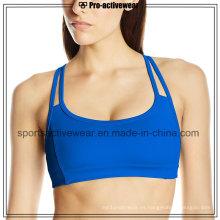 OEM 2016 Tela de moda caliente de la venta del nuevo diseño señoras Sports Bra