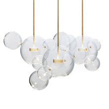 Modern Clear Glass Bubble Lamp Chandelier For Home Decor Fixture Clear Glass Ball Pendant Lamp