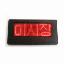 LED Display Badge, Energy-saving, Can Display Varied Language and Symbol