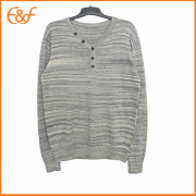 Fashion V Neck Cotton Lad Button Sweater