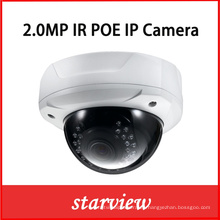 2.0MP 1080P Web Vandalproof IP Dome red IP Cámara digital