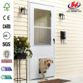 K900 Series White Vinyl Self-Storing Pet Storm Door