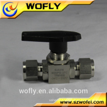 316L ball valve, 3pc PTFE ball valve seal ,ball valve handle