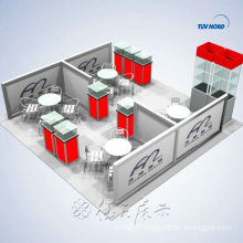 large exhibition booth 30x30 custom 9x9 exhibition booth design from Shanghai