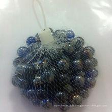 Marbre en verre à la forme ronde de couleur claire à vendre