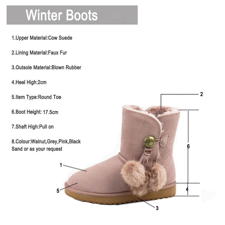 Outdoor Fur-lined Winter Boots