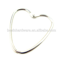 Fashion High Quality Metal Heart Shaped Binder Ring