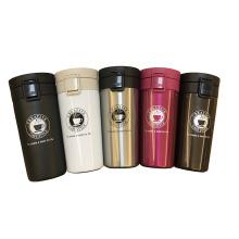 Gros haute qualité 380 ml double couches en acier inoxydable voyage flacon vide café tasse