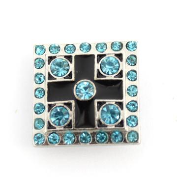 Застежка-молния браслета квадратная кристаллическая кнопка способа сплава