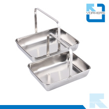 Portable Stainless Steel Dish Towel & Serving Tray