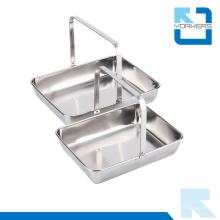 Toalha de prato de aço inoxidável portátil e bandeja de serviço