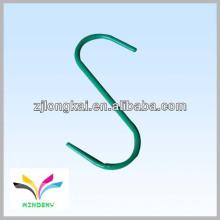 Hochwertige s Form funktionale grüne Pulver beschichtete Metalldraht Anzeige hängende Haken