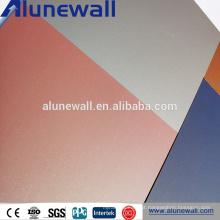 Materiais de construção compostos de alumínio exteriores inteiros do painel do núcleo PVDF do PE acp