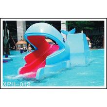Outdoor Water Park Whales Cartoon Shape Slide, Kids Water Pool Slides For Pool