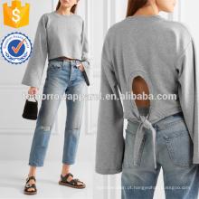 Tie-back Cropped algodão-mistura Camisola Camisola Fabricação Atacado Moda Feminina Vestuário (TA4093B)