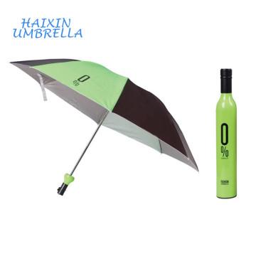 Best Selling Items Unique Sun and Rain 3 Folding Bottle Umbrella with Case Custom Umbrellas no Minimum