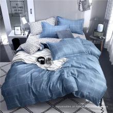 Têxtil de casa de luxo 100% impresso jogo de cama