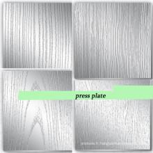 Placer une plaque de presse en acier pour machine à pression / plaque de pressage de 5 mm