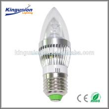 Garantie de qualité de 3 ans 5W LED lumière de bougie, blanc frais, E24 / E14