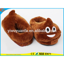 Hot Sell Neuheit Design Brown Poop Plüsch Emoji Pantoffel mit Ferse