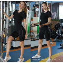 Vêtements de sport femme Athletic Sport Shirt Yoga Course à manches courtes