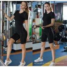 Roupas de Fitness Mulheres Atlético Esporte Camiseta Yoga Corrida de Manga Curta