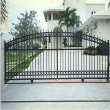 Durable high metal fence iron gate design with galvanized sheet