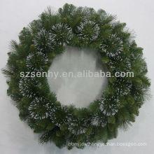 Particular Glittered Bristle Pine Wreath/Stephanie