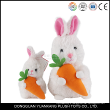 Cute plush easter toy with carrot