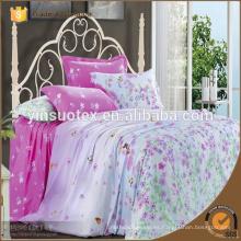 Tejidos rey 4 piezas liso impreso adulto casa ropa de cama conjunto