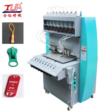 Dongguan 8 färg PVC Injection Zipper Making Machine
