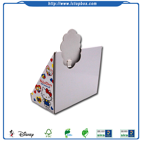 Cardboard Desktop Paper Display Stand