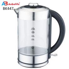 Стеклянный чайник для быстрого кипячения (1,7 л) Беспроводной чайник из нержавеющей стали Стеклянный чайник для горячей воды