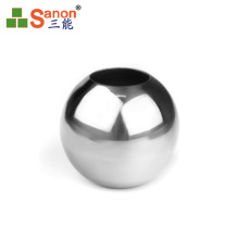 AISI 304  Stainless Steel Handrail Hollow Ball Satin/Mirror Polished Pipe Fitting Connector
